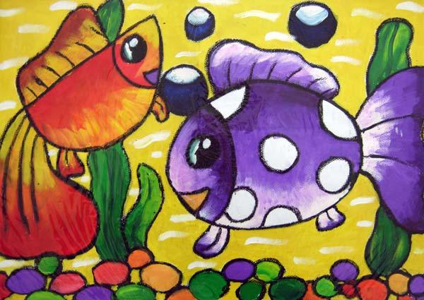 鱼-蜡笔画图集23