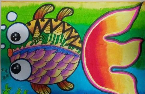 鱼-蜡笔画图集27