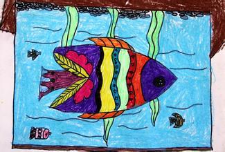 鱼-蜡笔画图集31