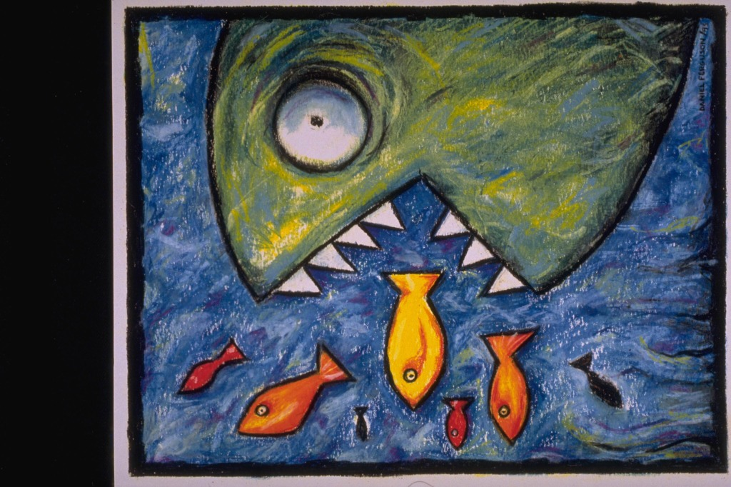 鱼-蜡笔画图集33