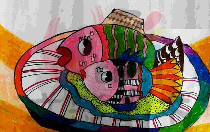 鱼-蜡笔画图集36
