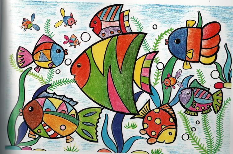 鱼-蜡笔画图集37