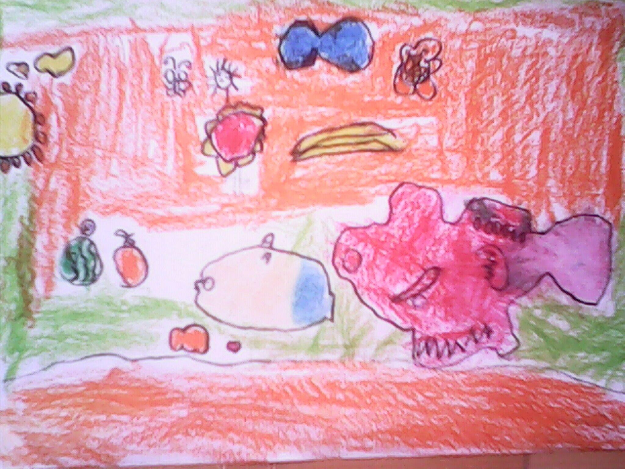 鱼-蜡笔画图集38