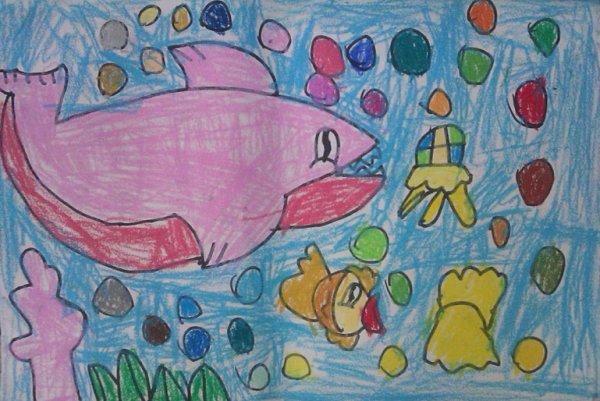 鲨鱼-蜡笔画图集5