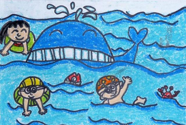 鲸鱼-蜡笔画图集7
