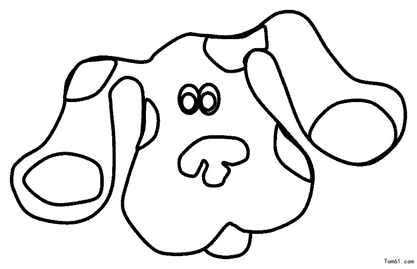 Magenta blues clues coloring pages