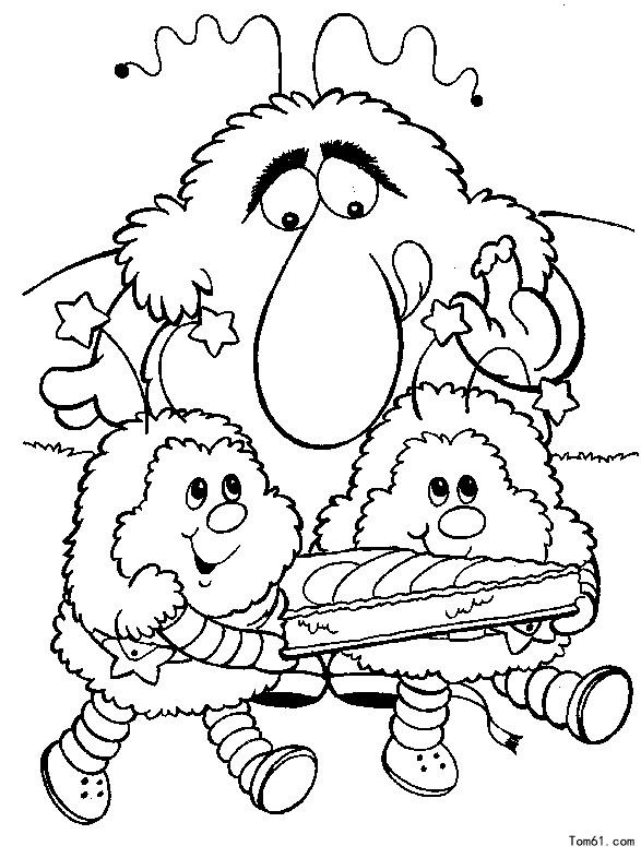Kleurplaat C 小精灵涂色1图片 简笔画图片 少儿图库 中国儿童资源网