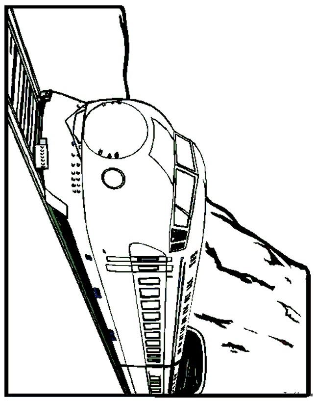 可爱手绘火车简图