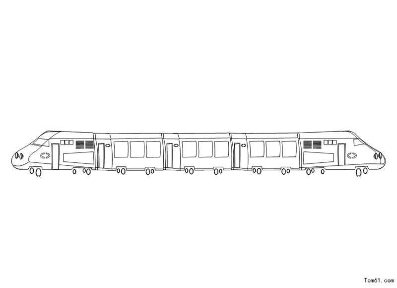 火车涂色图片