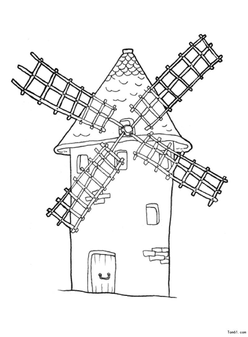 荷兰风车结构图纸