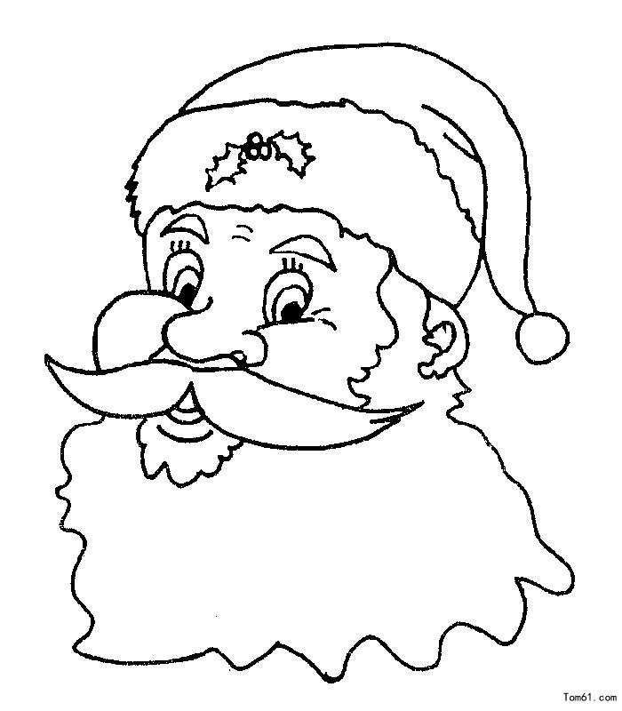 圣诞老人头像图片_简笔画图片