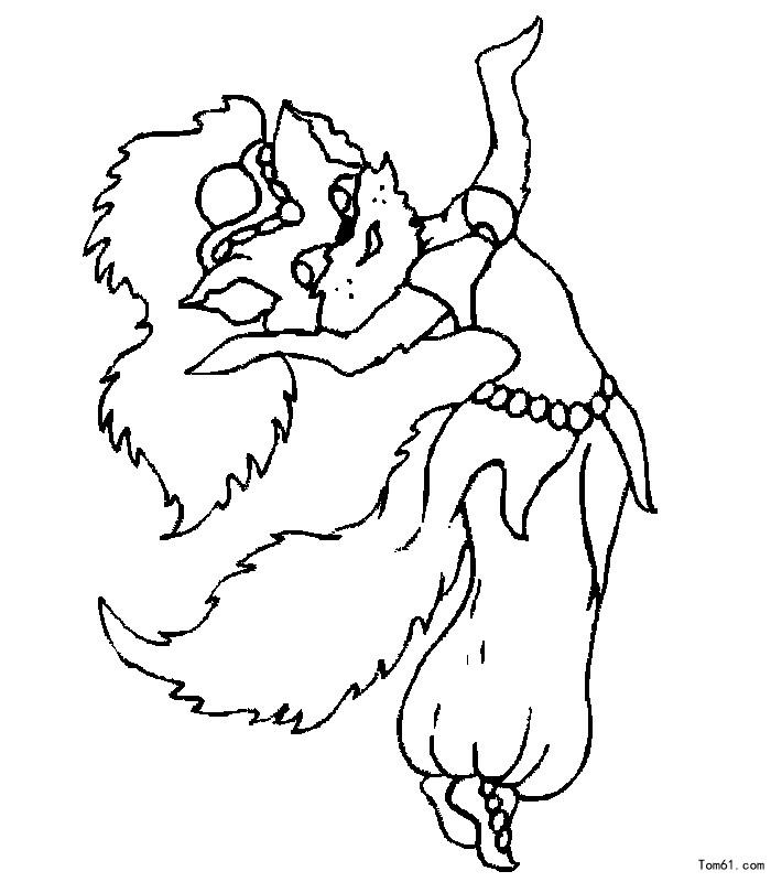 张猫小姐 简笔画图片 儿童资源网手机版