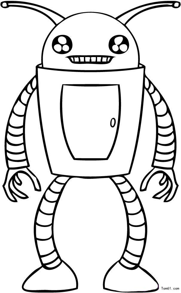 科幻机器人图片_简笔画图片