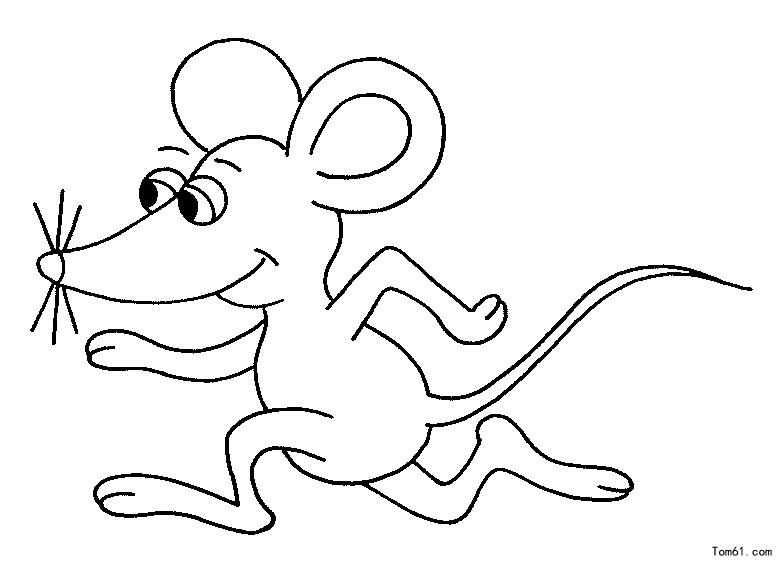 老鼠-简笔画图片-中国儿童资源网
