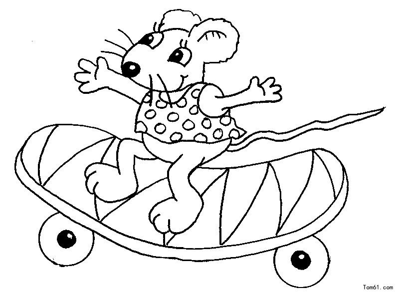 老鼠图片_简笔画图片_少儿图库