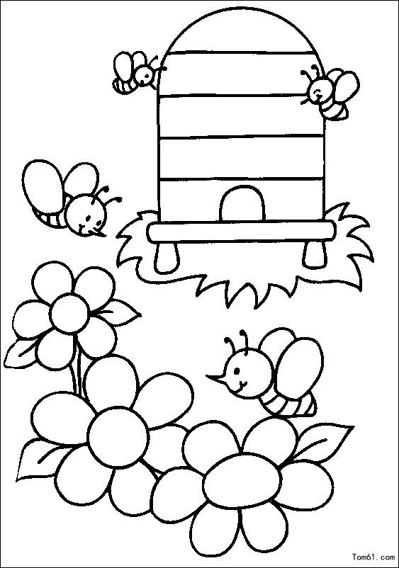 蜜蜂图片_简笔画图片_少儿图库_中国儿童资源网