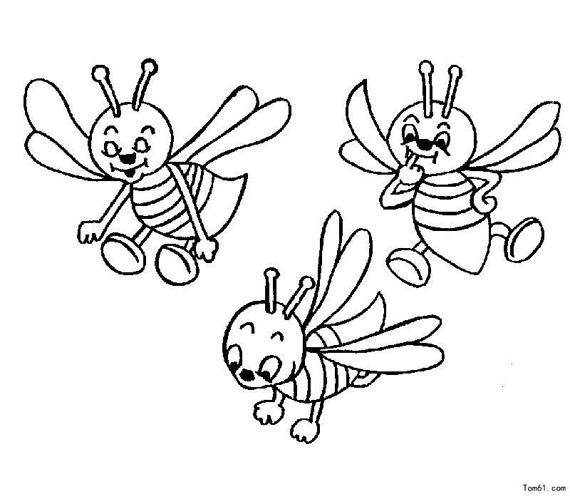蜜蜂图片_简笔画图片_少儿图库