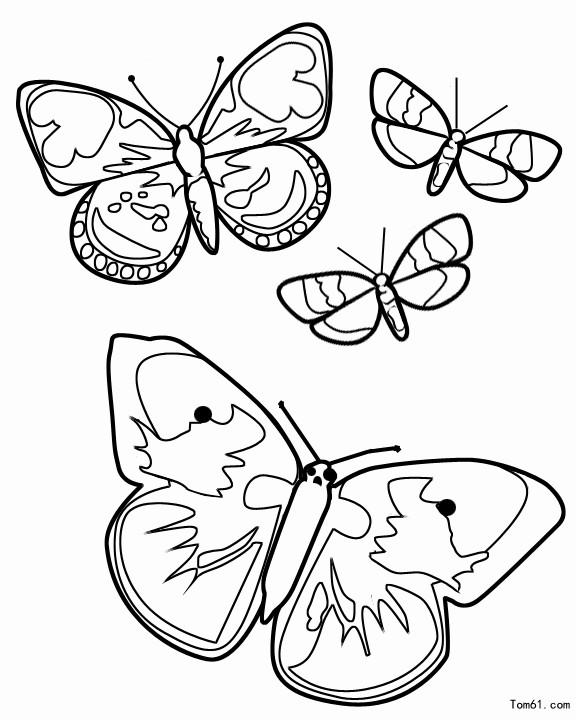 蝴蝶图片_简笔画图片_少儿图库_中国儿童资源网