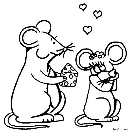 鼠年新年简笔画图片