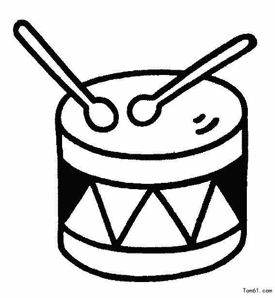乐器简笔画_乐器1