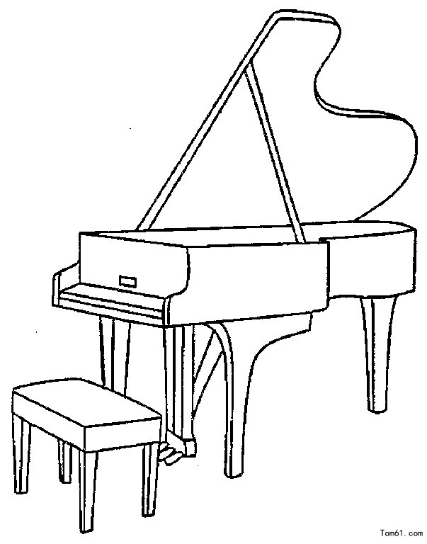 1 - Coloriage piano ...