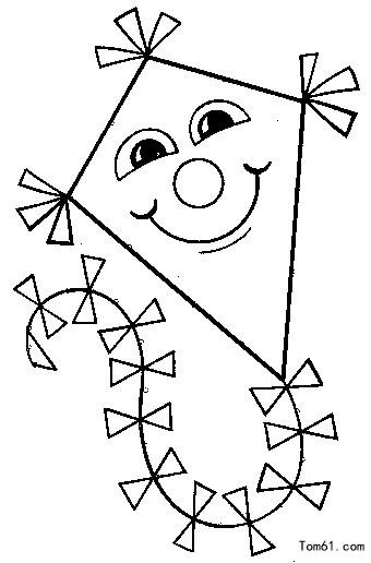 卡通燕子簡筆畫大全; 卡通風箏簡筆畫圖片