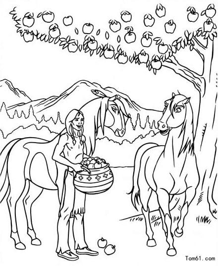 Kleurplaat Paard In De Wie 小马王图片 简笔画图片 少儿图库 中国儿童资源网