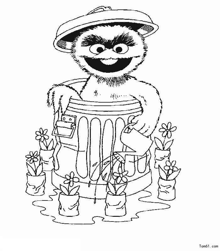 芝麻街图片 简笔画图片 少儿图库 中国儿童资源网