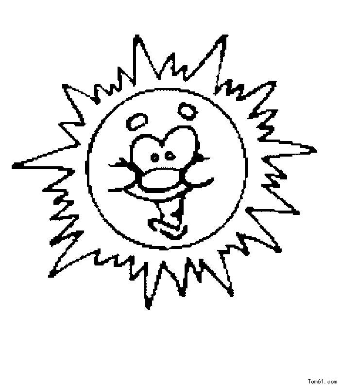 遮阳伞简笔画图片大全_太阳图片_简笔画图片_少儿图库_中国儿童资源网