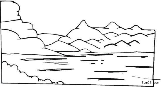 湖泊图片 简笔画图片 少儿图库 中国儿童资源网