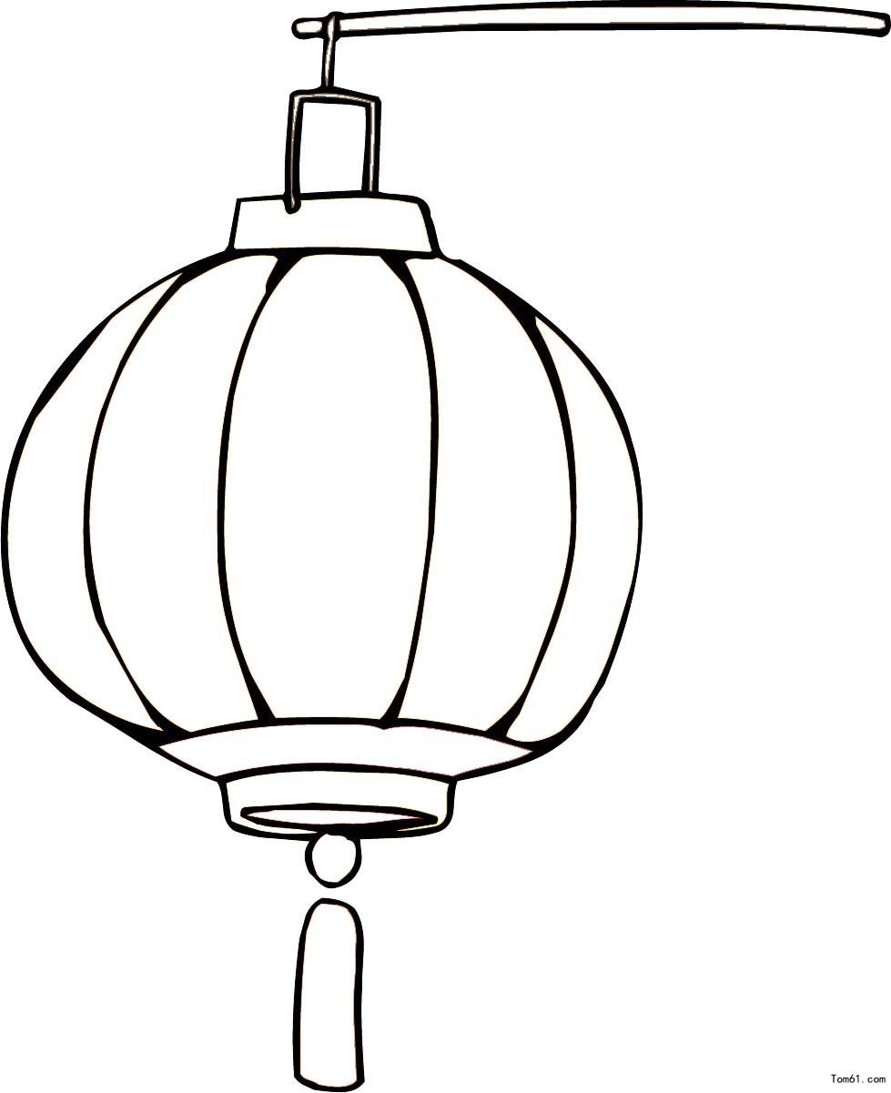 灯笼简易画法步骤