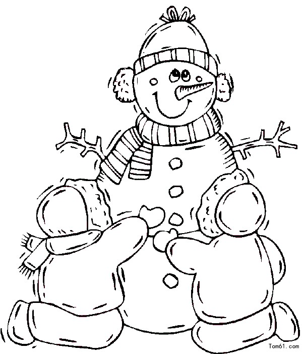 childrens coloring pages snowman free - photo#40