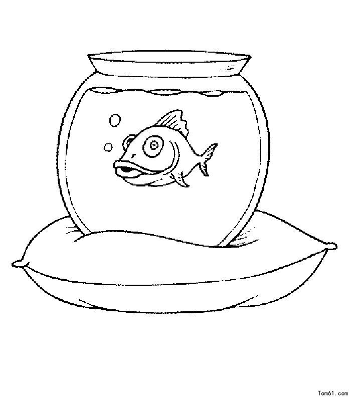 鱼缸 简笔画图片 儿童资源网手机版