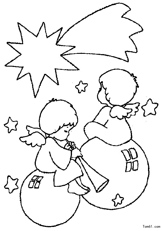 天使1图片_简笔画图片_少儿图库_中国儿童资源网