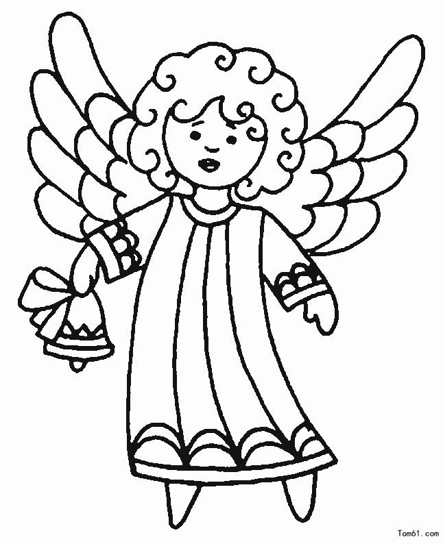 for Disegni angeli da colorare gratis