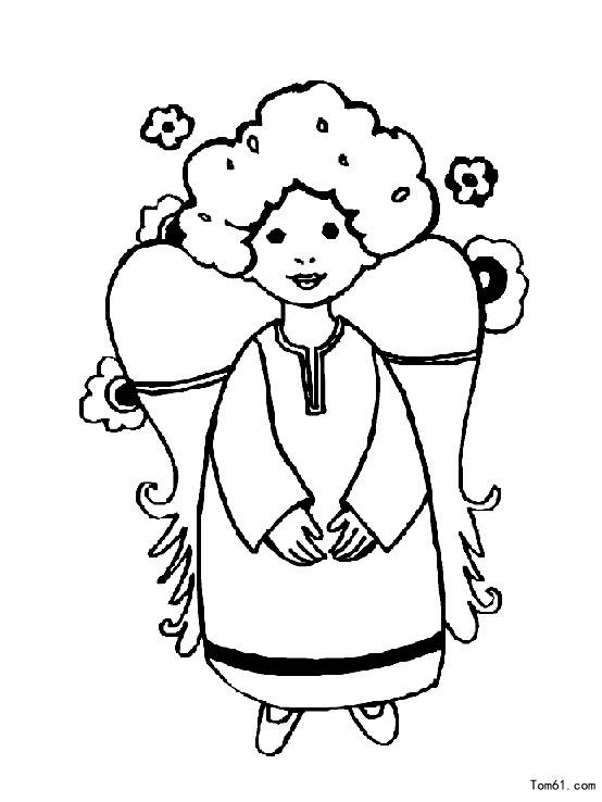 天使4图片_简笔画图片_少儿图库_中国儿童资源网