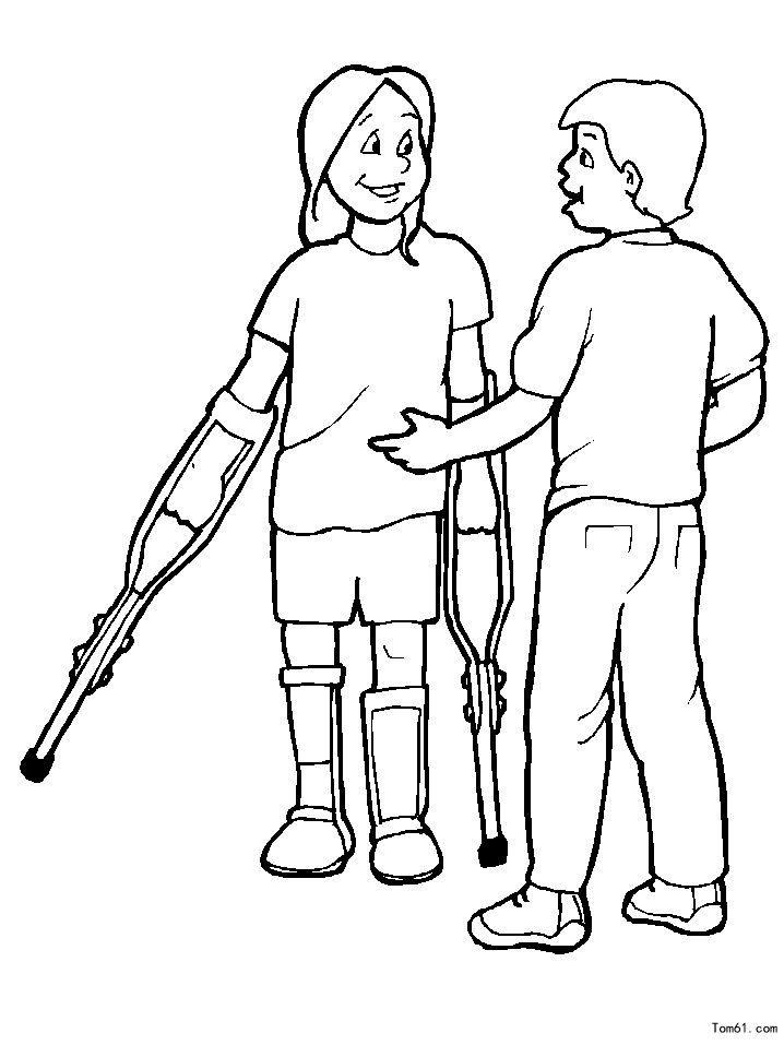 special needs coloring pages - photo#21