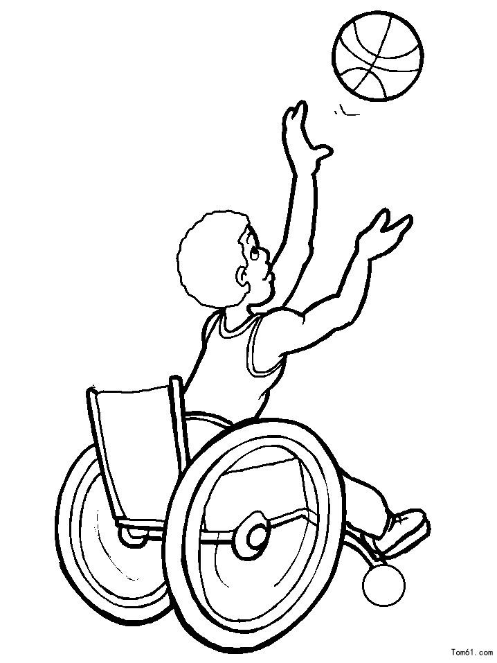 打篮球手绘卡通画