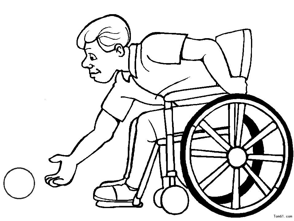 残疾人图片_简笔画图片