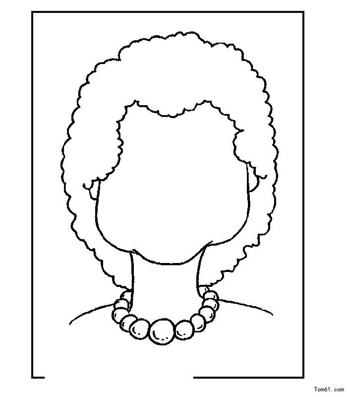 脸的轮廓-简笔画图片-中国儿童资源网