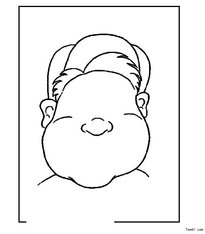 头轮廓简单手绘