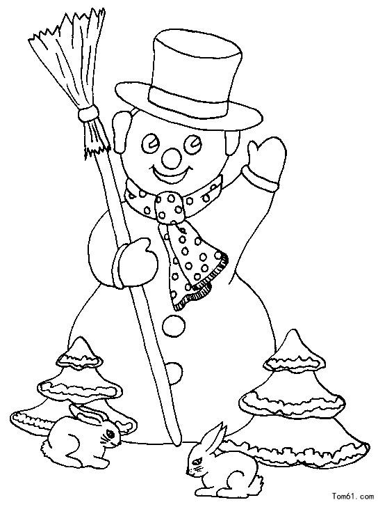 雪人2 简笔画图片 儿童资源网手机版