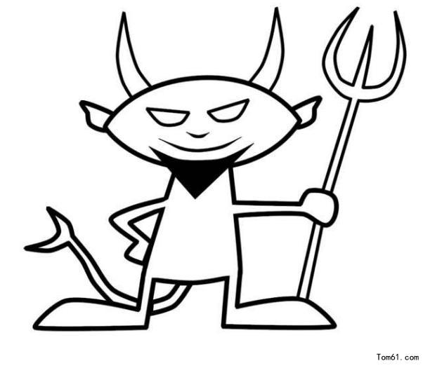 魔鬼-简笔画图片-中国儿童资源网