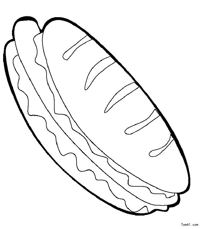 卡通三明治三明治三明治矢量图_点力图库