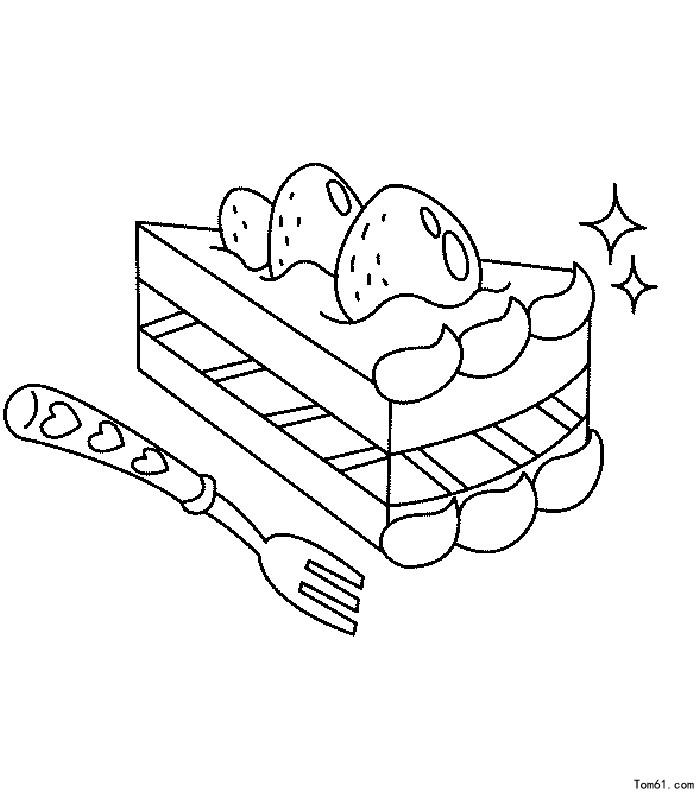 蛋糕图片_简笔画图片_少儿图库