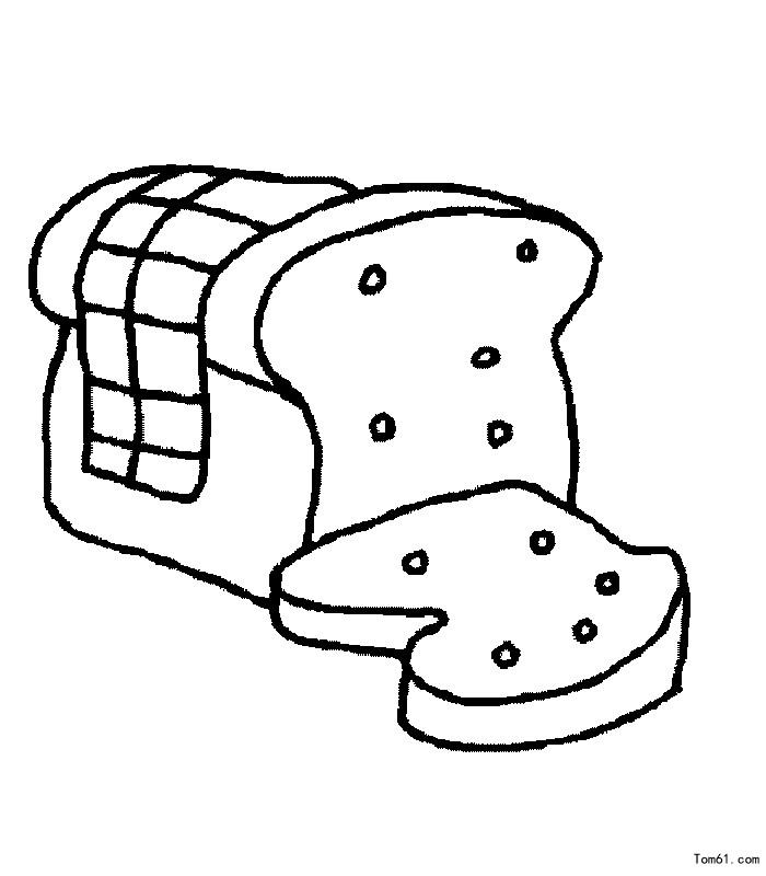 面包图片_简笔画图片_少儿图库