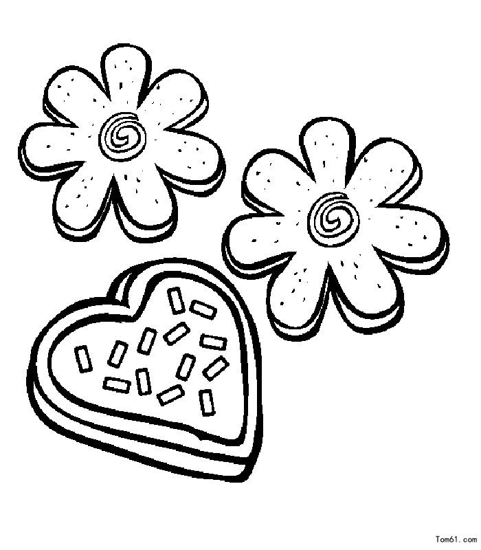 圆形饼干简笔画