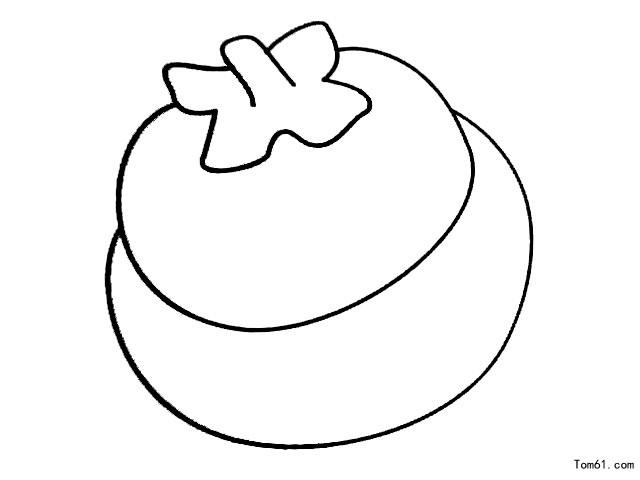 柿子简笔画图片