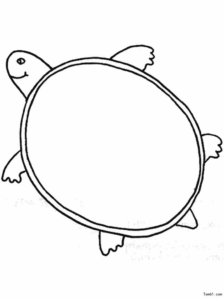 乌龟-简笔画图片-中国儿童资源网