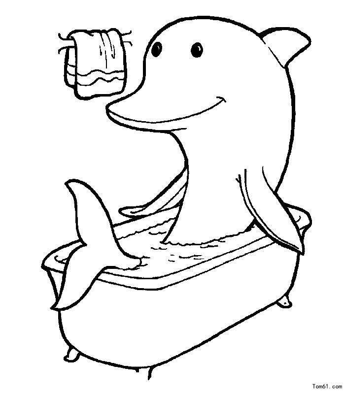 童简笔画大全海豚_海豚图片_简笔画图片_少儿图库_中国儿童资源网